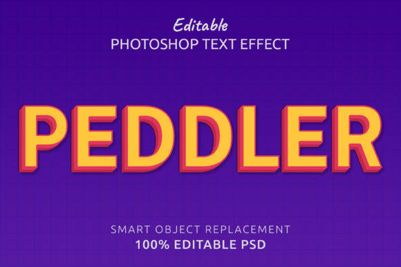 Print on Demand: Peddler Photoshop Editable Text Effect Graphic Layer Styles By IYIKON
