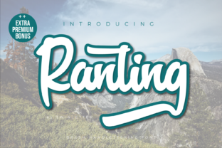 Print on Demand: Ranting Script & Handwritten Font By twinletter