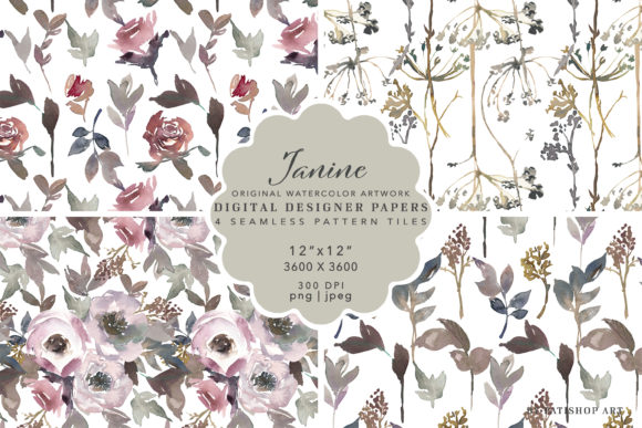 Seamless Pattern Collection Repeatable Graphic Illustrations By Patishop Art
