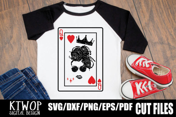 Print on Demand: Sexy Black Queen Card Dreadrock SVG Graphic Crafts By KtwoP