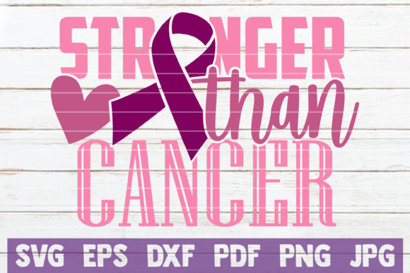 Stronger Than Cancer Graphic Crafts By MintyMarshmallows