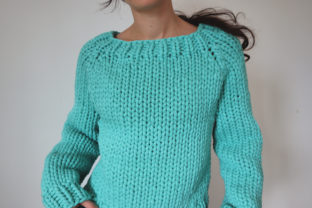 Super Chunky Big Bottom-Up Sweater Graphic Knitting Patterns By thesnugglery
