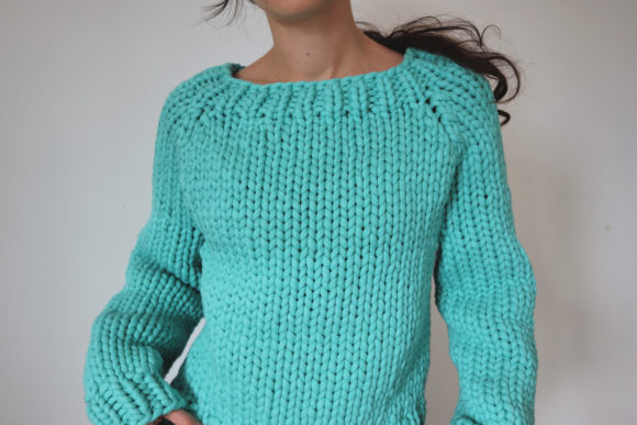 Super Chunky Big Bottom-Up Sweater Grafik Knitting Patterns von thesnugglery