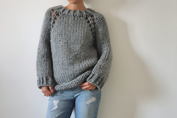 Super Chunky Top Down Raglan Sweater Graphic Download