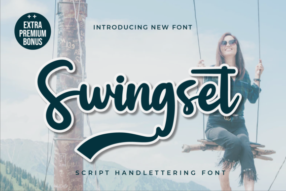 Print on Demand: Swingset Script & Handwritten Font By twinletter
