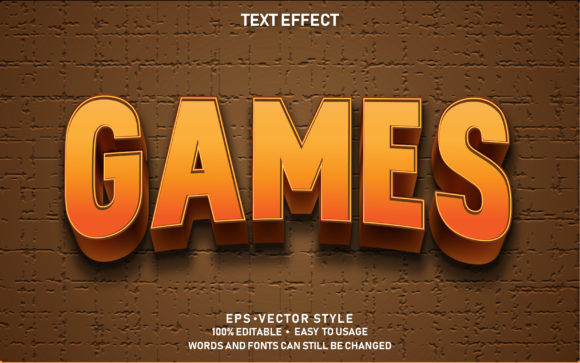 Text Effect Games Premium Graphic Graphic Templates By yosiduck
