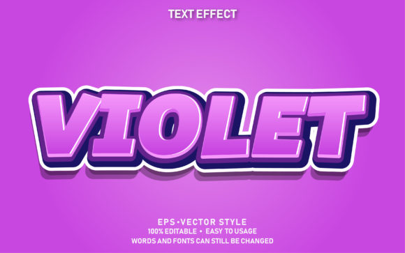 Text Effect Violet Premium Graphic Graphic Templates By yosiduck