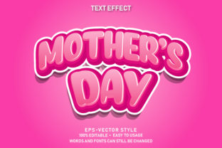 Text Style Effect Mother's Day Premium Graphic Graphic Templates By yosiduck
