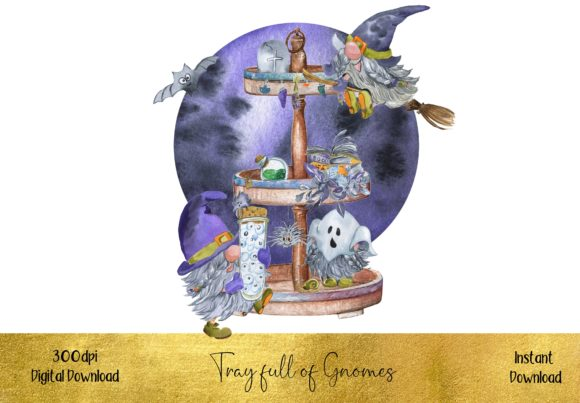 Tray Full of Halloween Gnomes Graphic Illustrations By STBB