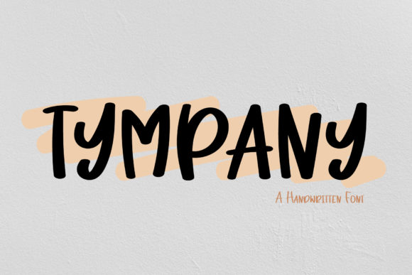Print on Demand: Tympany Script & Handwritten Font By Wanida Toffy