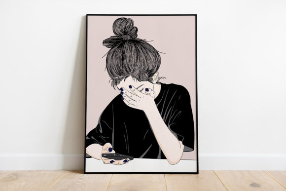 Print on Demand: Wall Art Women Are Tired of Social Media Graphic Illustrations By Saydung89