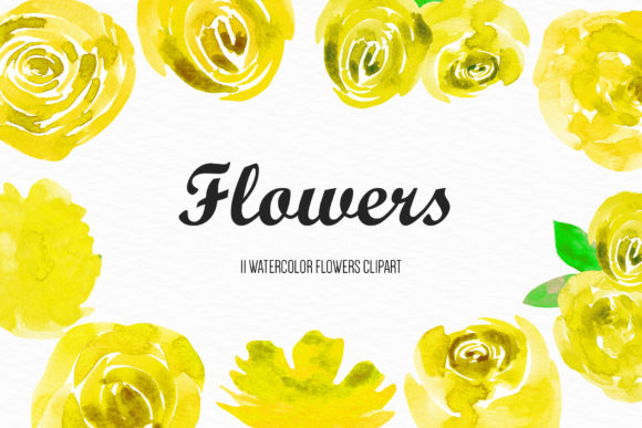 Watercolor Flower Illustration Graphic Illustrations By BonaDesigns