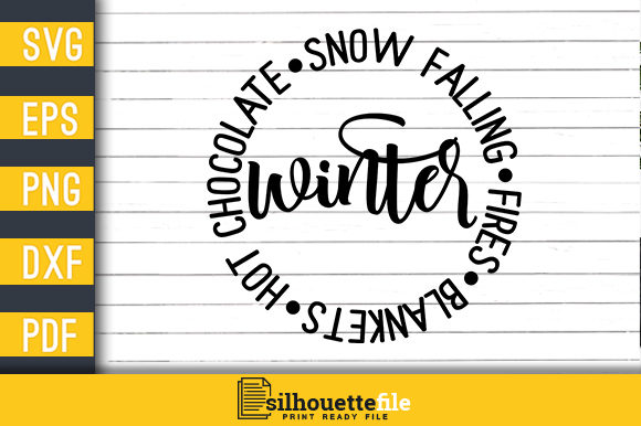 Print on Demand: Winter Blankets, Hot Chocolate, Snow Falling, Fires Graphic Crafts By Silhouettefile