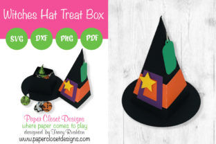 Print on Demand: Witches Hat Treat Box Graphic 3D SVG By rushton_tracy