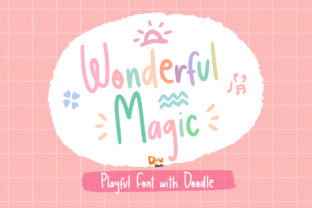 Print on Demand: Wonderful Magic Script & Handwritten Font By dmletter31