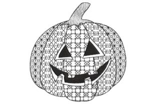 Zentangle Pumpkin Halloween Embroidery Design By BabyNucci Embroidery Designs