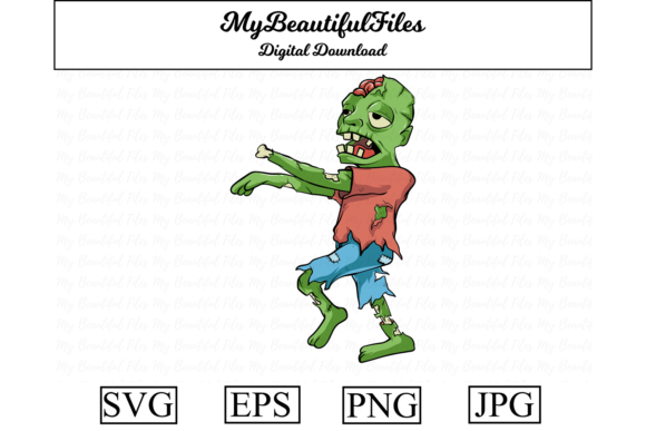 Print on Demand: Zombie Undead Illustration Graphic Illustrations By MyBeautifulFiles