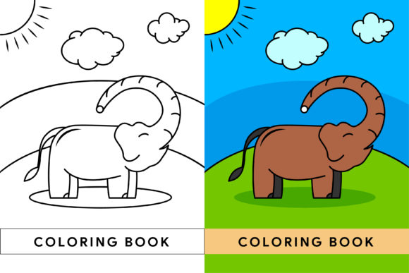 Print on Demand: Elephant Coloring Book Graphic Coloring Pages & Books By noory.shopper