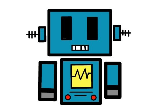 Print on Demand: Illustration Robot Cute Block Graphic Illustrations By Craftera