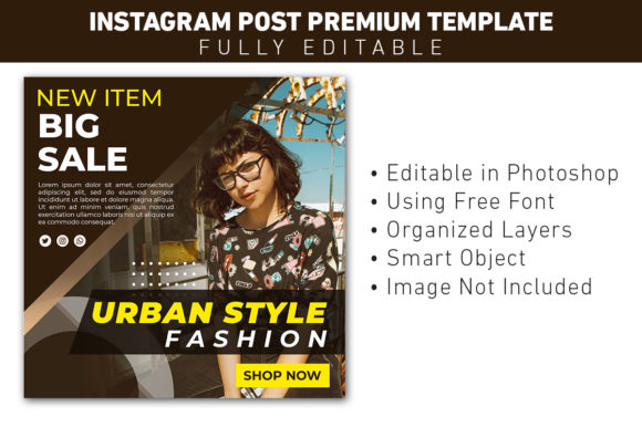Social Media Post Urban Fashion Graphic Websites By ant project template