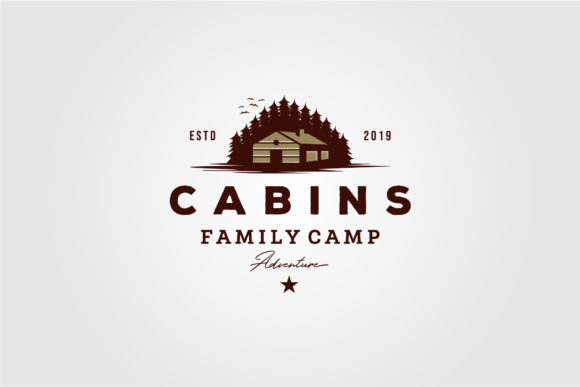 Vintage Cabins Logo Vector Illustration Graphic Logos By lawoel