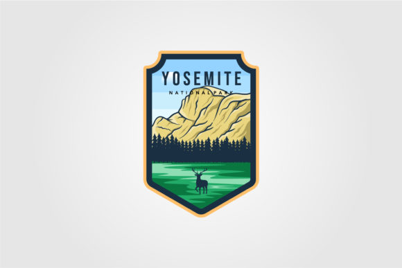 Yosemite National Park Logo Outdoor Graphic Logos By lawoel