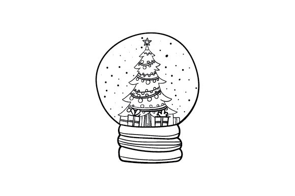 Christmas Snow Globe Navidad Archivo de Corte Craft Por Creative Fabrica Crafts