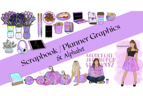 65 Galaxy Planner Graphics Alphabet Graphic Objects By Cheree Leite