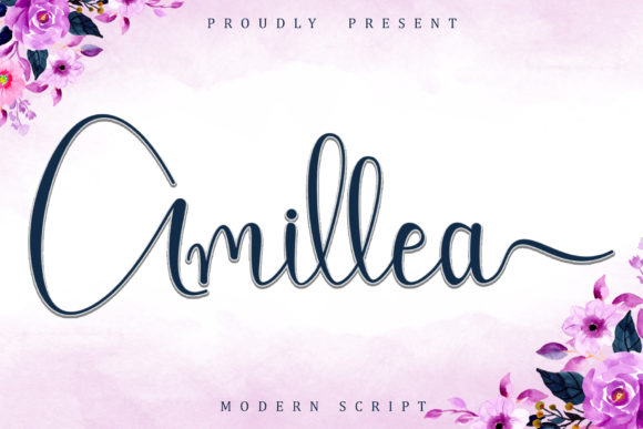 Print on Demand: Amillea Script & Handwritten Font By Sakha Design
