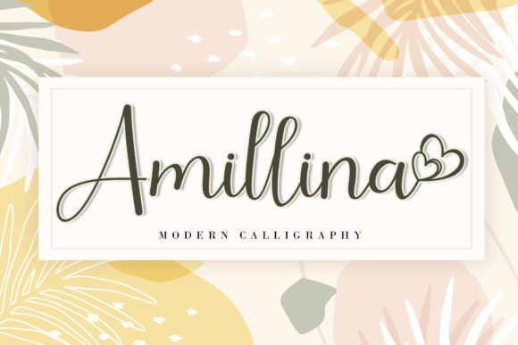 Print on Demand: Amillina Script & Handwritten Font By AEN Creative Studio