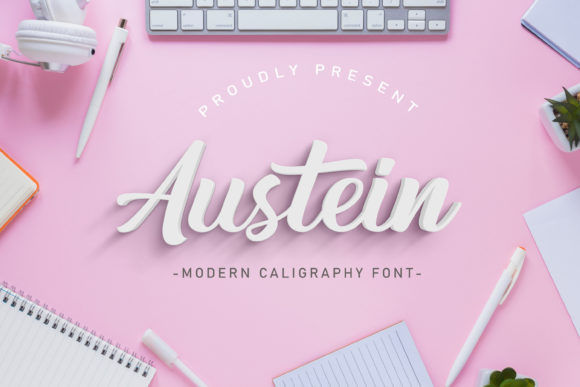 Print on Demand: Austein Script & Handwritten Font By Typestory
