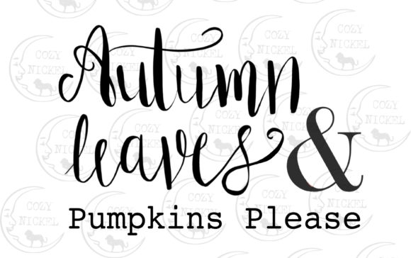 Print on Demand: Autumn Leaves and Pumpkins Please Graphic Icons By ashley_lynne18