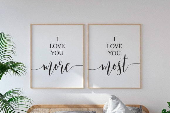 Bedroom Wall Art, Love Art, TOS_10 Graphic Print Templates By TwentyOneStudios
