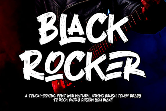 Print on Demand: Black Rocker Display Font By thomasaradea