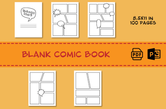 Print on Demand: Blank Comic Book for Draw Your Own Comic Graphic KDP Interiors By IsaraDesign