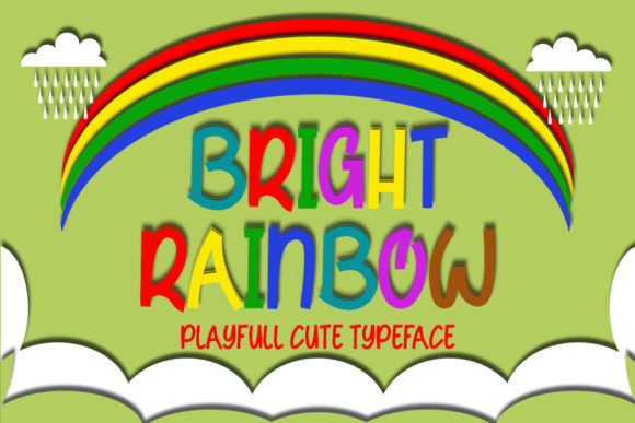 Print on Demand: Bright Rainbow Display Font By Inermedia STUDIO