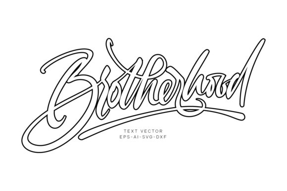 Print on Demand: Brotherhood Vector Text Graphic Objects By Cititype