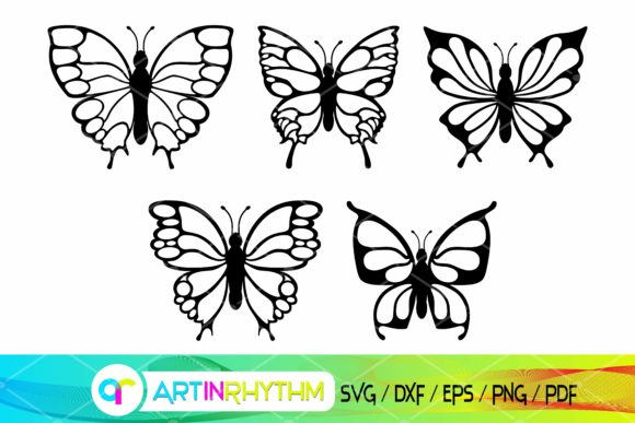 Butterfly Silhouette Bundle - SVG Files Graphic Crafts By artinrhythm