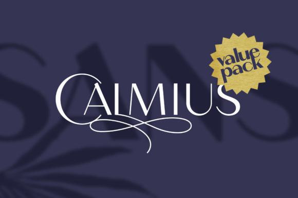 Print on Demand: Calmius Sans Serif Font By NREY