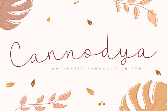 Print on Demand: Cannodya Script & Handwritten Font By Katario Studio