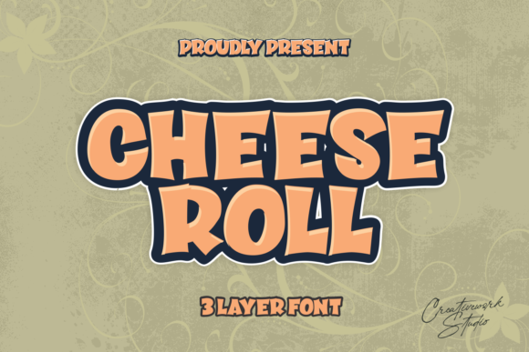 Print on Demand: Cheese Roll Display Font By creativework69