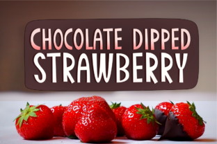 Print on Demand: Chocolate Dipped Strawberry Display Font By Deedeetype