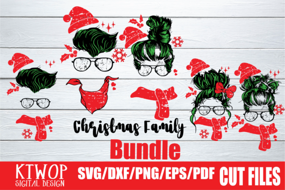 Print on Demand: Christmas 2020 Character 5 Bundle SVG Graphic Crafts By KtwoP