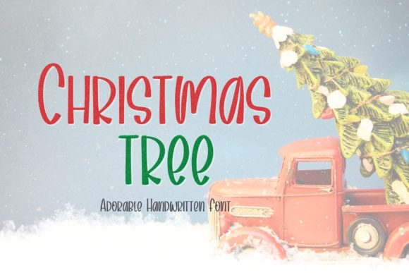 Print on Demand: Christmas Tree Script & Handwritten Font By AllaCreativa
