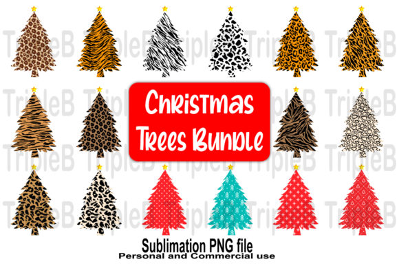 Print on Demand: Christmas Trees Sublimation Bundle Set 2 Graphic Crafts By TripleBcraft