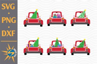 Print on Demand: Christmas Truck Graphic Crafts By SVGStoreShop