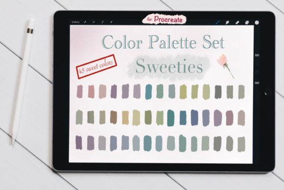 Color Palette Set for Procreate-Sweeties Graphic Add-ons By jennythip