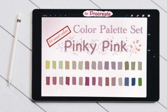 Color Palettes Set for Procreate - Pinky Graphic Add-ons By jennythip