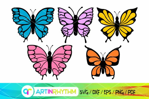 Colorful Butterfly Bundle - SVG Files Graphic Crafts By artinrhythm