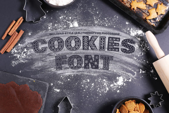 Print on Demand: Cookies Display Font By OWPictures